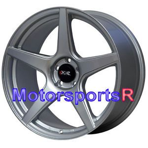 18 18x8 75 XXR 535 Silver Concave Wheels Rims 5x100 05 06 07 08 09 Scion TC XD