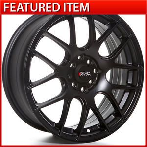 XXR 530 17 17x8 25 5 100 5 114 3 25 Flat Black Wheels Rims 240sx s14 Scion TC