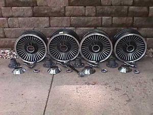 Corvette C2 Set Knock Off Cast Aluminum Wheels Vintage Western Wheel Corp K H