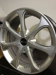 16 inch Raceline 197 Silver Wheels Rims Scion XB XA Saturn ion SC 4x100 16""