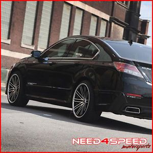 "20"" Acura RL Rohana RC20 Matte Black Concave Wheels Rims"