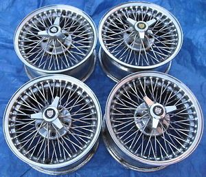 Jaguar XJ XJ6 XJ12 XJS XKE Sovereign Dayton Chrome Wire Spoke 15x7 Wheels Rims