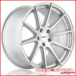 "20"" Chevy Camaro Incurve IC S10 Silver Concave Staggered Wheels Rims"