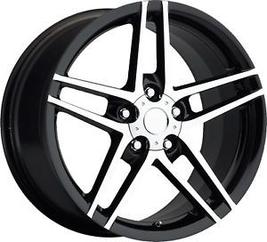 17x8 5 18x9 5 C4 C5 C6 Z06 ZO6 Corvette Camaro Firebird Wheels Rims Black