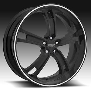 20x7 5 MSR Boss 087 Black Wheels Rims