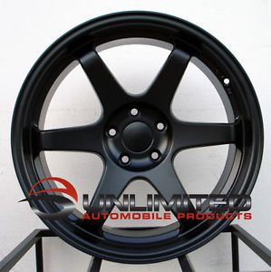 19x10 11 15mm Varrstoen ES2 Matte Black Wheels Rims Fit Infiniti G35 G37 Sedan