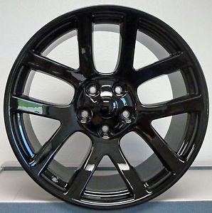 "20"" SRT 10 SRT10 Gloss Black Dodge RAM Tires Wheels Package Rims Set"