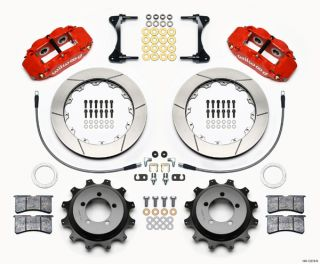 "Wilwood Disc Brake Kit Rear Subaru 13"" Rotors Red Calipers 12878 R"