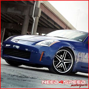 "19"" Nissan 350Z Rohana RC5 Machined Deep Concave Staggered Wheels Rims"