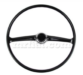 Fiat 500 Black Steering Wheel w Horn Button New