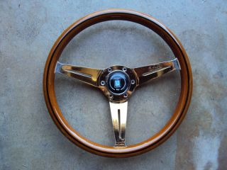 Nardi Wood Steering Wheel Gold Plated 360mm Mercedes Benz Jaguar Rolls Royce JDM