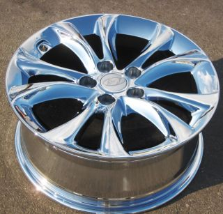 "Set of 4 New 12 13 17"" Factory Hyundai Genesis SDN Chrome Wheels Rims 70825"