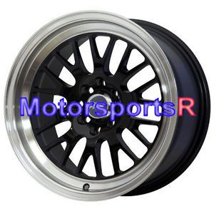 16 16x8 XXR 531 Black Wheels Rims Deep Dish Et 20 4x100 Lip 03 06 Scion XB XA