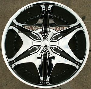 "Akuza Big Papi 712 22"" Chrome Rims Wheels Infiniti QX4 97 03"