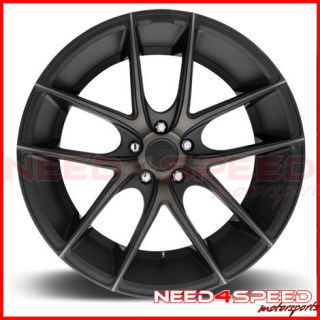 "20"" Niche Targa Black Fits Infiniti G37 G37S Sedan Concave Wheels Rims"