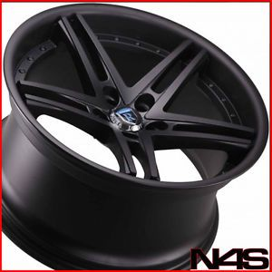 "20"" Infiniti G37 Coupe Rohana RC5 Matte Black Deep Concave Staggered Wheels Rims"