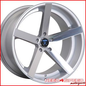 "20"" Lexus GS300 GS400 GS430 GS Rohana RC22 Concave Silver Staggered Wheels Rims"