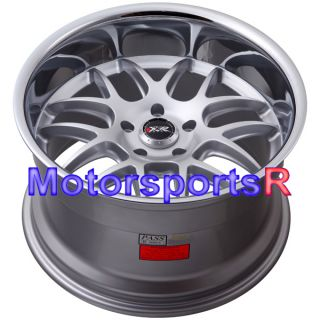17 XXR 526 Silver Staggered Rims Wheels Deep Lip 5x114 3 Stance 93 Mazda RX7 FD