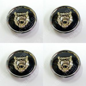 Jaguar Wheel Badge Set Center Cap Wheel Motif 1988 2012 Black Gold