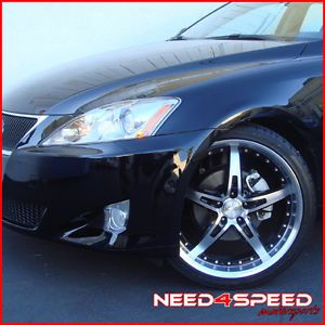 "19"" Lexus IS250 is350 MRR GT5 Staggered Wheels Rims"