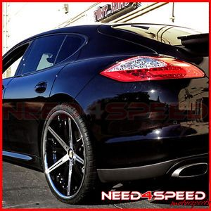"22"" Blaque Diamond BD 10 2 Piece Forged Wheels Rims Fits Porsche Panamera"