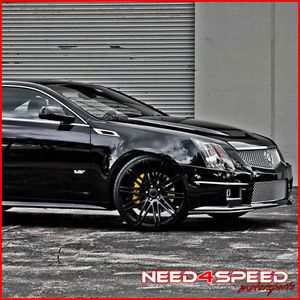 "20"" Lexus isf XO Milan Matte Black Concave Staggered Wheels Rims"