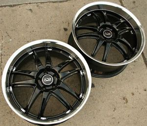 "Adr Decadence 20"" Glossy Black Rims Wheels Lexus LS430 Staggered"