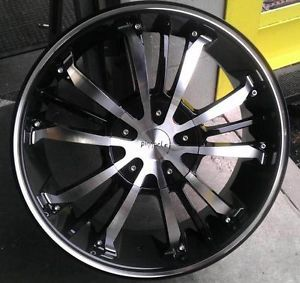 "18"" inch 4x100 4x4 5 Black Machined Wheels Rims 4 Lug Acura Honda Nissan Scion"