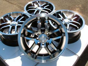 "18"" Effect Wheels Rims Black Nissan Sentra Altima Cube Versa Volvo S40 V40 Civic"