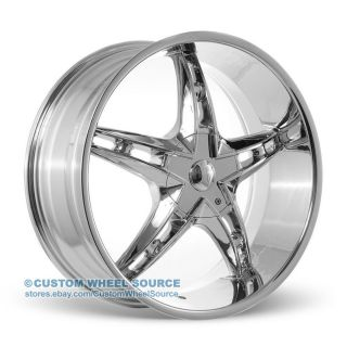 "20"" Chrome Rims Pontiac Lincoln Scion Toyota VW930 Velocity Wheel Tire Package"