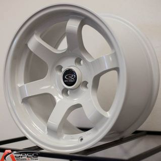 Rota Grid Concave 15x8 4x100 20 White Wheel Fit BMW 2002 E30 Scion XB IQ XA Rim