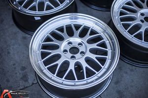 STR601 18x8 0 LM Style Wheels 5x100 Rims ET35MM Fits 5 Lug Corolla Scion TC