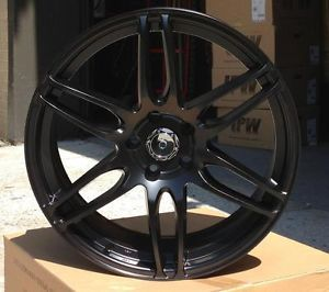 "New 19"" Deception Style Black Wheels Rims Fits Nissan Altima Maxima 350Z Models"