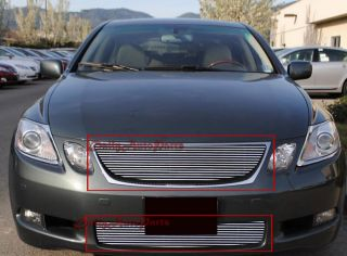 Billet Grille Insert 05 07 Lexus GS Series Aluminum Grill Combo Upper Lower