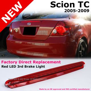Scion TC 05 09 Rear Trunk Red LED 3rd Third Brake Tail Light Lamp Replacement