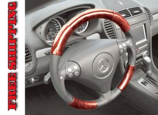Lexus RX300 99 03 Red Wood Pattern Steering Wheel Cover Parts TUR204