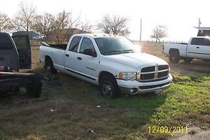 2003 Dodge RAM 2500 Crew Cab Long Bed Cummins 5 9L Blown Up No Trans for Parts