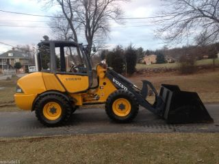 Volvo L20B Wheel Loader Tractor Payloader Rubber Tire Skid Steer Power Attach