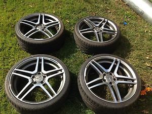 "19"" 2008 2010 Mercedes Benz AMG Wheels Rims Tires C300 C350 W204 L K"
