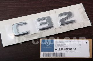Original Mercedes Benz C32 Model Emblem Badge W203 00 07 AMG C230 C240 C280 C320