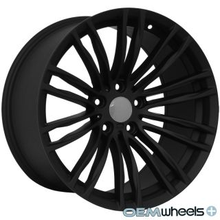 "19"" Matte Black M5 Style Wheels Fits BMW E46 E90 E92 E93 F30 328i 335i Staggered"