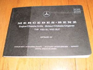 "1979 Mercedes Benz Model 107 450 SL SLC Parts Owners Manual Book Catalog ""G"""