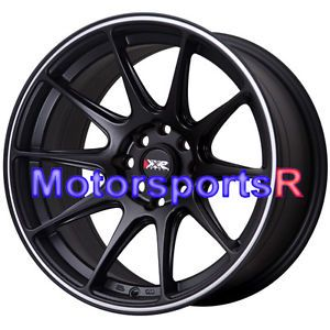 16 8 XXR 527 Black White Stripe Rims Wheels Concave Stance 4x100 Honda Civic SI