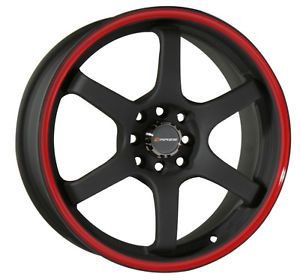 "17"" Black Wheels Rims Honda Accord Civic Fit Integra Yaris Sentra 4x100 4x114 3"