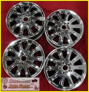 "2005 05 Buick Terraza 17"" Chrome Clad Wheels Used Factory Set Rims 4061"
