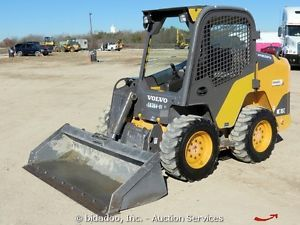 2012 Volvo MC115C Skid Steer Wheel Loader Hand Controls Aux Hydraulics Low Hours