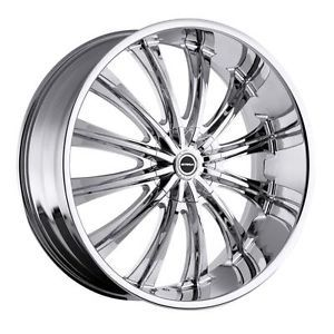 26 inch Strada Corona Chrome Wheels Rims 5x120 BMW 5 6 7 Series Range Rover