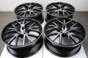 20 5x112 Rims Black Mercedes Benz S350 S550 S600 ML350 ML500 SLK300 Alloy Wheels