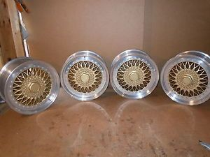 Maserati Ferrari Jaguar Lambo Bently Set of Four Vintage Compomotive Wheels