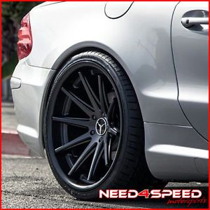 "20"" Mercedes Benz CLS550 CLS63 Rohana RC10 Black Concave Staggered Wheels Rims"